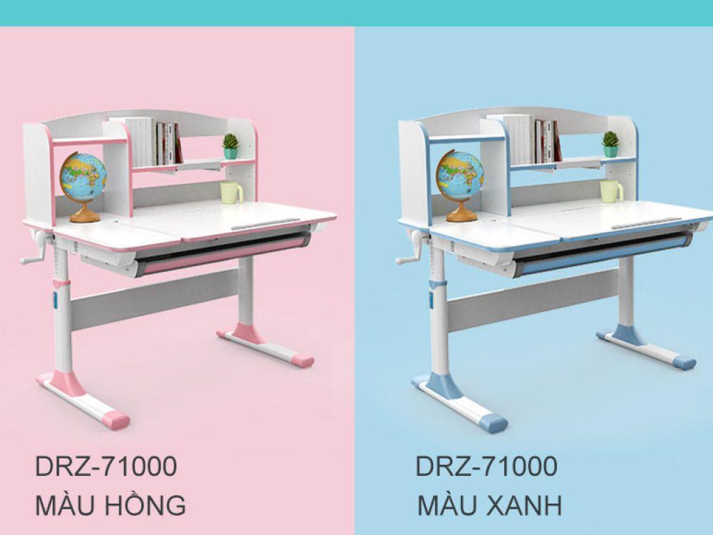 bàn học chống gù chống bận bsuc màu xanh và màu hồng