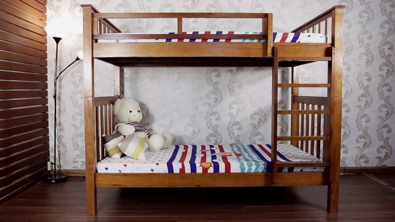 Giường tầng bằng gỗ cho bé
