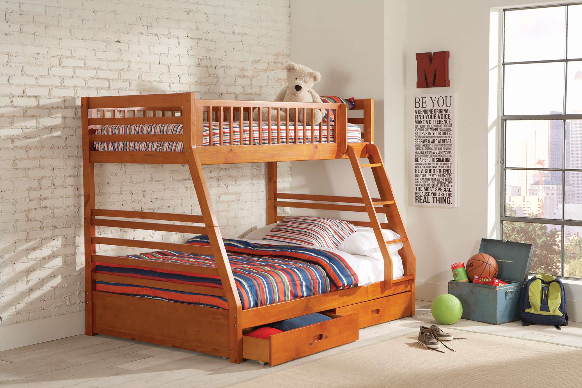 Giường tầng cho bé đơn giản