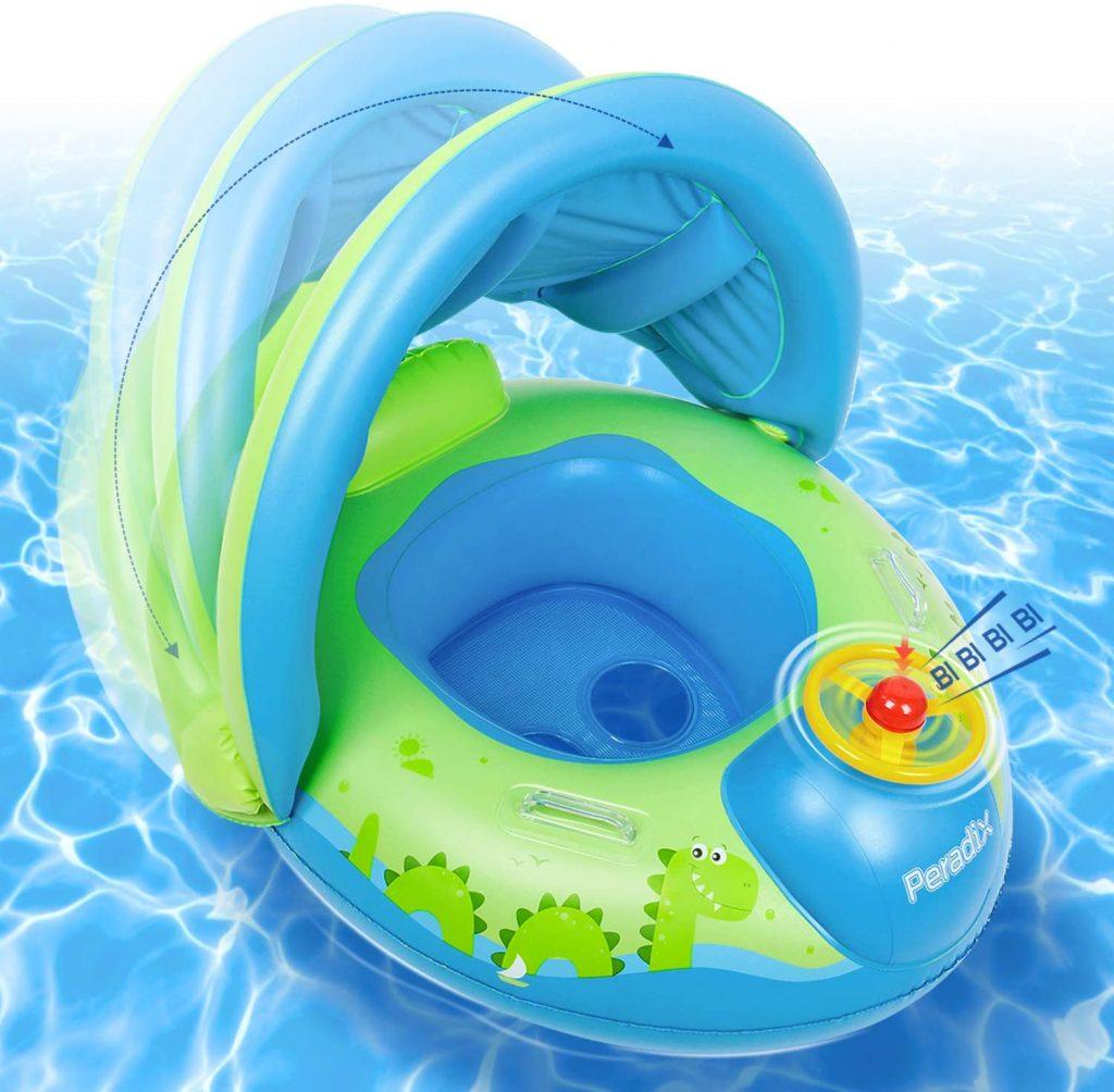 Phao bơi có mái che nắng cho bé 2 tuổi