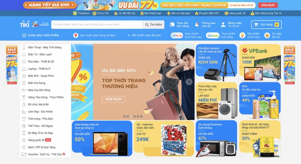 Mua sắm online Tiki
