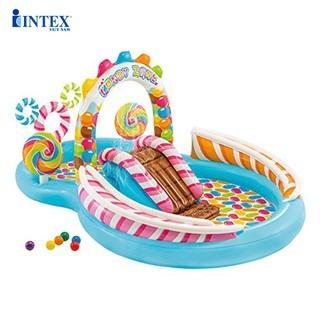 bể bơi cầu trượt bánh kẹo