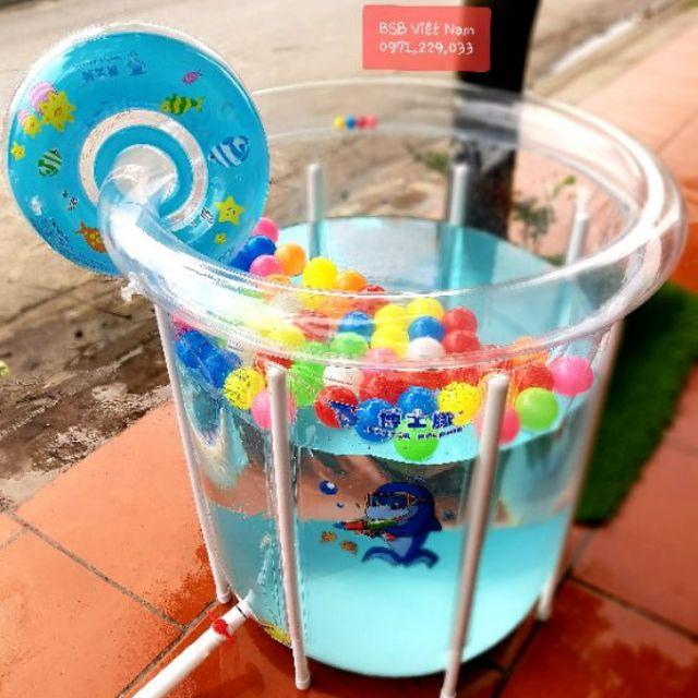 bể bơi cho bé thành cao giao hàng từ hà nội