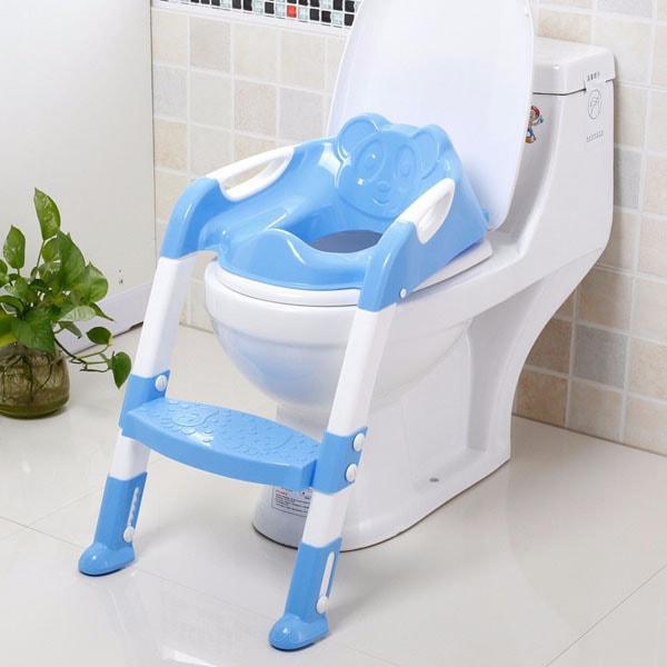 Ghế thang cho bé tập ngồi toilet