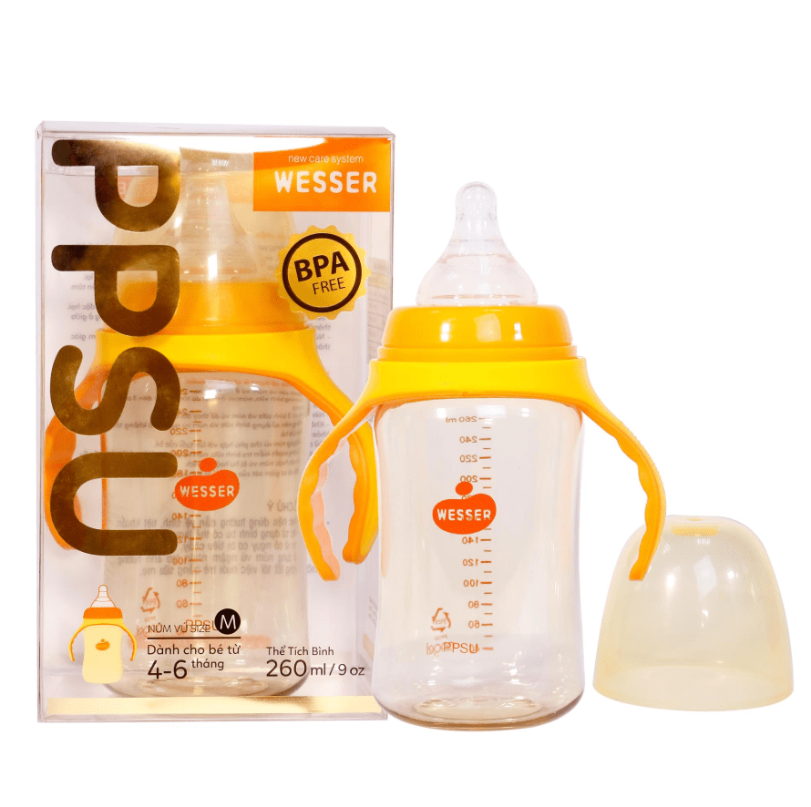 Bình sữa PPSU Wesser (cổ rộng)